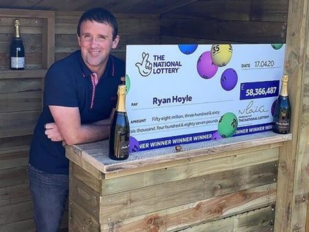 Self-Employed Brit Wins £58,000,000 EuroMillions Lottery Jackpot