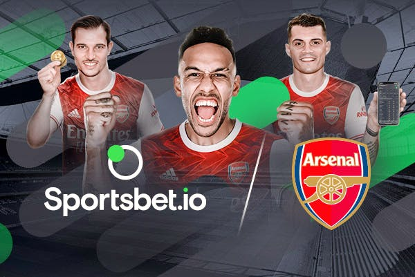 Sportsbet.io official betting partners of Arsenal FC